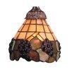 "Rosalind Wheeler Clemence 6"" Fruit Design Glass Bell Pendant Shade"