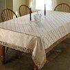 Rosalind Wheeler Cheever Damask Design Fringe Tablecloth