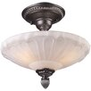 Rosalind Wheeler Weatherwax 3 Light Semi Flush Mount