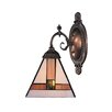 Rosalind Wheeler Clemence 1 Light Wall Sconce with Triangle Shaped Glass Shade