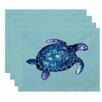 Bay Isle Home Geranium Sea Turtle Animal Print Placemat (Set of 4)