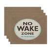 Bay Isle Home Golden Beach Nap Zone Word Placemat (Set of 4)