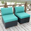 Bay Isle Home Scholtz Armless/Slipper Chair with Cushion (Set of 2)