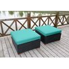 Bay Isle Home Scholtz Ottoman with Cushion (Set of 2)