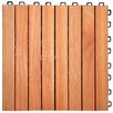 "Symple Stuff Eucalyptus 12"" x 12"" Interlocking Deck Tile"