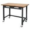 Symple Stuff Commercial Heavy-Duty Wood Top Workbench