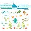 Zoomie Kids Caileigh Under The Sea Applique Wall Decal Kit