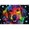 Varick Gallery 'Golden Retriever' by Dean Russo Graphic Art on Wrapped Canvas