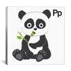 Zoomie Kids P is for Panda Painting Print Canvas Art