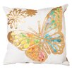 Zoomie Kids Abbott Watercolor Butterfly Throw Pillow