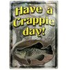 Rivers Edge Crappie Day Tin Sign Wall Décor