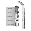 Luxier Stainless Steel Rain Massage System Rainfall Shower Panel