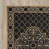 Astoria Grand Gresham Palace Hand-Hooked Black/Gold Area Rug