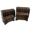 Astoria Grand Stone Castle Faux Leather Indoor Storage Trunks (Set of 4)