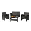 Baner Garden 4 Piece Seating Group with Cushion