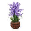 World Menagerie Dancing Lady Silk Flowers in Pot