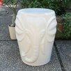 World Menagerie Szeto Wild Elephant Ceramic Garden Stool
