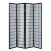 "World Menagerie Vavra 70"" x 69"" 4 Panel Room Divider"