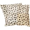 World Menagerie Bhatt Cow Hide Suede Throw Pillow (Set of 2)