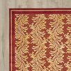 World Menagerie Noham Stripe Hand-Loomed Red Area Rug