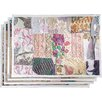 World Menagerie Vizcarra Hand Crafted Cotton and Poly Recyled Sari Placemat (Set of 4)