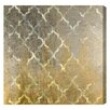Mercer41 Arabesque Platinum Graphic Art on Wrapped Canvas