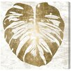 Mercer41 Monstera Gold Leaf Graphic Art on Wrapped Canvas