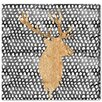 Mercer41 Night Deer Painting Print on Wrapped Canvas