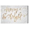 Mercer41 Merry & Bright Textual Art on Wrapped Canvas
