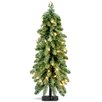Mercer41 3' Green Downswept Artificial Christmas Tree with 50 Colored & Clear Lights
