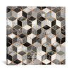 Mercer41 Black and White Cubes Graphic Art on Wrapped Canvas
