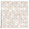 Mercer41 White Cubes Graphic Art on Wrapped Canvas