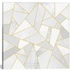 Mercer41 White Stone Graphic Art on Wrapped Canvas