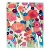DiaNoche Designs Howd You Get So Pretty Flowers by Carrie Schmitt Painting Print Plaque