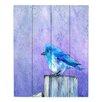 DiaNoche Designs Bluebird BlIss by Brazen Design Studio Painting Print Plaque