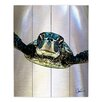 DiaNoche Designs Sea Turtle I by Corina Bakke Painting Print Plaque