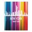 DiaNoche Designs City II New York New York by Angelina Vick Graphic Art Plaque
