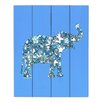 DiaNoche Designs Elephant II RibbOns by Susie Kunzelman Graphic Art Plaque in Blue