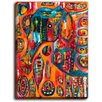 DiaNoche Designs 'Abstract Elephant' by Michele Fauss Painting Print on Wrapped Canvas