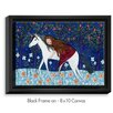 DiaNoche Designs 'Horse Dreamer' by Sascalia Painting Print on Wrapped Framed Canvas