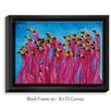 DiaNoche Designs 'Peace Love and Flamingos' by Patti Schermerhorn Painting Print on Wrapped Framed Canvas