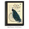 DiaNoche Designs 'Peacock Bicycle Butterflies' by Madame Memento Graphic Art on Wrapped Framed Canvas
