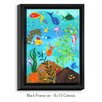 DiaNoche Designs 'Happy Fish III' by NJoy Art Painting Print on Wrapped Framed Canvas