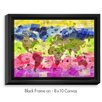 DiaNoche Designs 'Whimsical World Map II' by Angelina Vick Painting Print on Wrapped Framed Canvas