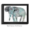DiaNoche Designs 'Elephant' by Marley Ungaro Painting Print on Wrapped Framed Canvas