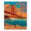 DiaNoche Designs San FrancIsco Golden Gate Bridge III by Lantern Press Painting Print Plaque