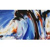 Hot Art Heated Blue Wave Abstract Framed Painting Print