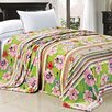 BOON Throw & Blanket Blossom Flower Flannel Fleece Blanket