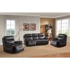 Amax Rushmore 3 Piece Leather Living Room Set