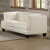 Amax Newport Leather Loveseat